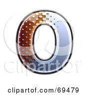 Royalty Free RF Clipart Illustration Of A Metal Symbol Capital O