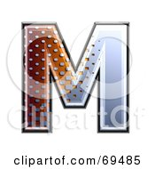 Royalty Free RF Clipart Illustration Of A Metal Symbol Capital M