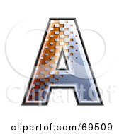 Royalty Free RF Clipart Illustration Of A Metal Symbol Capital A by chrisroll