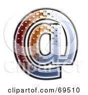 Metal Symbol Arobase
