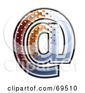 Royalty Free RF Clipart Illustration Of A Metal Symbol Arobase