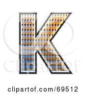 Royalty Free RF Clipart Illustration Of A Patterned Symbol Capital K