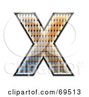 Royalty Free RF Clipart Illustration Of A Patterned Symbol Capital X by chrisroll