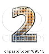 Royalty Free RF Clipart Illustration Of A Patterned Symbol Number 2