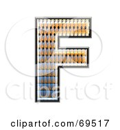 Royalty Free RF Clipart Illustration Of A Patterned Symbol Capital F by chrisroll