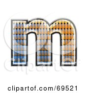 Royalty Free RF Clipart Illustration Of A Patterned Symbol Lowercase M by chrisroll