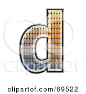 Royalty Free RF Clipart Illustration Of A Patterned Symbol Lowercase D by chrisroll
