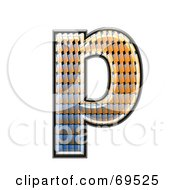 Royalty Free RF Clipart Illustration Of A Patterned Symbol Lowercase P