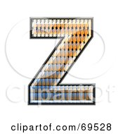 Royalty Free RF Clipart Illustration Of A Patterned Symbol Capital Z by chrisroll