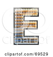 Royalty Free RF Clipart Illustration Of A Patterned Symbol Capital E by chrisroll