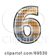 Royalty Free RF Clipart Illustration Of A Patterned Symbol Number 6 by chrisroll
