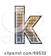 Royalty Free RF Clipart Illustration Of A Patterned Symbol Lowercase K