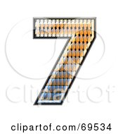 Royalty Free RF Clipart Illustration Of A Patterned Symbol Number 7 by chrisroll