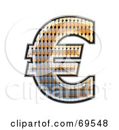 Royalty Free RF Clipart Illustration Of A Patterned Symbol Euro by chrisroll