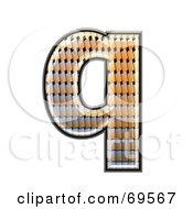 Royalty Free RF Clipart Illustration Of A Patterned Symbol Lowercase Q
