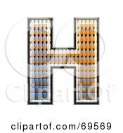 Royalty Free RF Clipart Illustration Of A Patterned Symbol Capital H