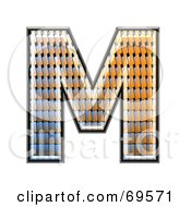 Royalty Free RF Clipart Illustration Of A Patterned Symbol Capital M