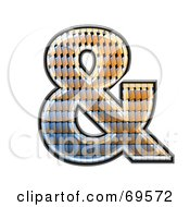 Royalty Free RF Clipart Illustration Of A Patterned Symbol Ampersand