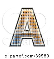 Royalty Free RF Clipart Illustration Of A Patterned Symbol Capital A by chrisroll