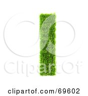 Royalty Free RF Clipart Illustration Of A Grassy 3d Green Symbol Letter L