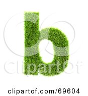 Royalty Free RF Clipart Illustration Of A Grassy 3d Green Symbol Letter B by chrisroll