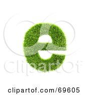 Royalty Free RF Clipart Illustration Of A Grassy 3d Green Symbol Letter E