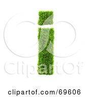Grassy 3d Green Symbol Letter I