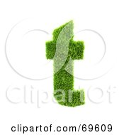 Royalty Free RF Clipart Illustration Of A Grassy 3d Green Symbol Letter T