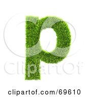 Grassy 3d Green Symbol Letter P by chrisroll
