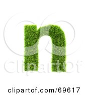 Grassy 3d Green Symbol Letter N by chrisroll