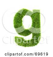 Royalty Free RF Clipart Illustration Of A Grassy 3d Green Symbol Letter G