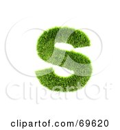 Royalty Free RF Clipart Illustration Of A Grassy 3d Green Symbol Letter S