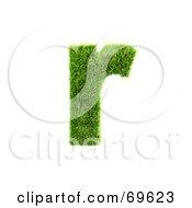 Grassy 3d Green Symbol Letter R