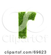Royalty Free RF Clipart Illustration Of A Grassy 3d Green Symbol Letter R