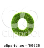 Royalty Free RF Clipart Illustration Of A Grassy 3d Green Symbol Letter O