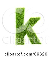 Grassy 3d Green Symbol Letter K by chrisroll