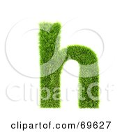 Grassy 3d Green Symbol Letter H
