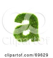 Grassy 3d Green Symbol Letter A