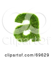 Royalty Free RF Clipart Illustration Of A Grassy 3d Green Symbol Letter A by chrisroll