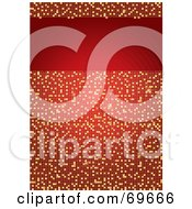 Royalty Free RF Clipart Illustration Of A Sparkling Red And Gold Mosaic Background With A Text Box by MilsiArt