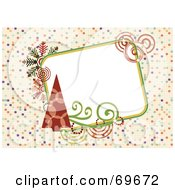 Royalty Free RF Clipart Illustration Of A Retro Background With Christmas Trees And Text Space by MilsiArt