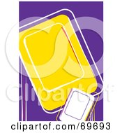 Royalty Free RF Clipart Illustration Of A Purple Background And White Borders Around Yellow And White Text Spaces