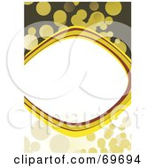 Royalty Free RF Clipart Illustration Of A Beige Yellow And Green Background Around A Text Box