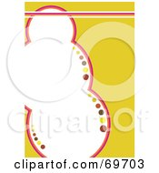 Royalty Free RF Clipart Illustration Of A Yellow Background Around A White Bubble Text Space