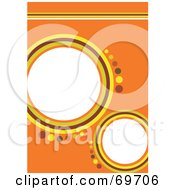 Royalty Free RF Clipart Illustration Of An Orange Background With Yellow And Brown Circles And Text Space