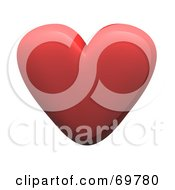 Royalty Free RF Clipart Illustration Of A Red 3d Love Heart by Jiri Moucka