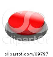 Royalty Free RF Clipart Illustration Of A Red 3d Push Button by Jiri Moucka