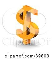 Angled Orange Dollar Symbol
