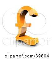 Angled Orange Pound Symbol