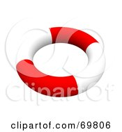 Royalty Free RF Clipart Illustration Of A Red And White 3d Life Ring